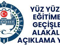 Trabzon Valiliği Yüz Yüze Eğitime Geçişle Alakalı Açıklama Yaptı