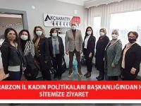 İYİ Parti Trabzon İl Kadın Politikaları Başkanlığından Haber Sitemize Ziyaret
