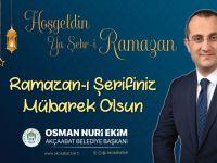 Başkan Ekim'den Ramazan Ayı Mesajı