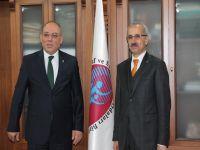Abdulkadir URALOĞLU, Trabzon Esnaf ve Sanatkârlar Odaları Birliğini Ziyaret Etti