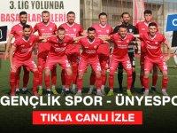 Sebat Gençlik Spor - Ünyespor Futbol Karşılaşması