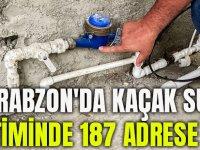 Trabzon'da Kaçak Su Denetiminde 187 Adrese Ceza!