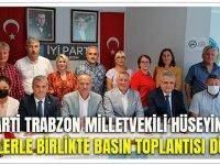 İYİ Parti Trabzon Milletvekili Hüseyin Örs Partililerle Birlikte Basın Toplantısı Düzenledi