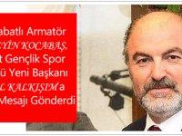 Hüseyin Kocabaş'tan Cemil Kalkışım'a Kutlama Mesajı
