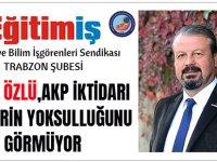 Tamer Özlü, AKP İktidarı Gençlerin Yoksulluğunu Görmüyor