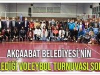 Akçaabat Belediyesi'nin Düzenlediği Voleybol Turnuvası Sona Erdi