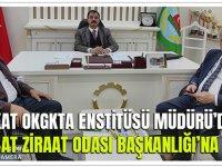 Tokat Okgkta Enstitüsü Müdürü'den Akçaabat Ziraat Odası Başkanlığı'na Ziyaret