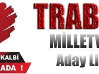 MHP Trabzon Milletvekili aday listesini açıkladı.
