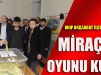 MHP Akçaabat İlçe Başkanı Miraç Çınar Oyunu Kullandı
