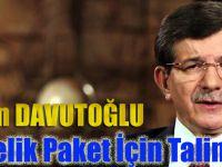 Başbakan Davutoğlu 10 Maddelik Paket İçin Talimatı Verdi
