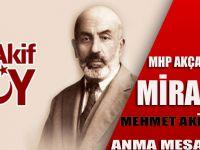 Akçaabat MHP'den Mehmet Akif Mesajı