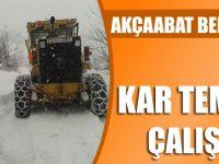 Akçaabat Belediyesi Ekiplerince Kar Temizleme Çalışmaları Başarıyla Tamamlandı.