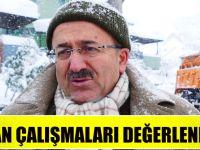 Başkan Gümrükçüoğlu Kar Mücadelesi  Çalışmalarını Değerlendirdi
