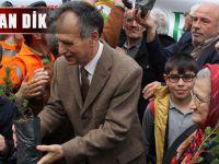 Akçaabat Belediyesi Fidan Dağıtımı Yaptı