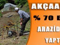 Akçaabat'ta Yüzde 70 Eğimli Arazide Tarım Yaptılar... Herkes Şok Oldu!