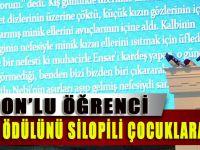 Trabzonlu Öğrenci, Para Ödülünü Silopili Çocuklara Bağışladı