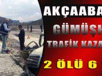 Akçaabat'lılar Gümüşhane'de Trafik Kazası Geçirdi: 2 Ölü, 6 Yaralı