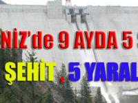 Karadeniz'de 9 ayda 5 saldırı: 1 şehit, 5 yaralı
