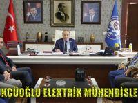 Başkan Gümrükçüoğlu Elektrik Mühendislerini Kabul Etti