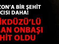 Trabzonlu Uzman Onbaşı Şehit Oldu