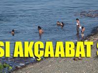 Akçaabat'ta Vatandaşlar Serinlemek İçin Çöplükte Yüzüyorlar
