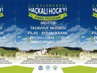 Haçkalı Hoca'yı Anma Etkinliği 31 Temmuz Pazar Günü Gerçekleştirilecek