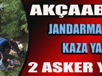 Akçaabat'ta Jandarma Aracı Kaza Yaptı İki Asker Yaralandı