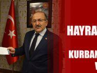 Başkan Gümrükçüoğlu Hayrat Vakfı'na Kurban Vekâleti Verdi