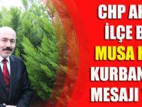 CHP Akçaabat İlçe Başkanından Kurban Bayramı Mesajı