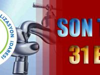 İçme Suyu Ve Atık Su Borçlarını Yapılandırmak İçin Son Tarih 31 Ekim