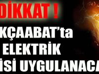 Akçaabat'ta Elektrik Kesintisi Uygulanacak
