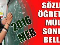 Sözleşmeli Öğretmenlik Mülakat Sonucu Belli Oldu! - 2016 MEB