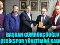 Başkan Gümrükçüoğlu, Bahçecikspor Yönetimini Kabul Etti