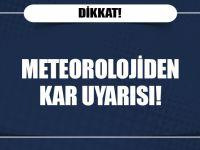 Meteorolojiden 5 İl İçin Kar Ve Soğuk Hava Uyarısı