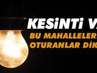 Trabzon'da Elektrik Kesintisi Yapılacak