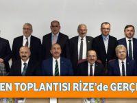 DKBB Encümen Toplantısı Rize'de Gerçekleştirildi