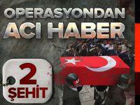 Bitlis'te PKK Operasyonunda 2 Asker Şehit.