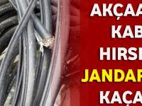Akçaabat'ta Kablo Hırsızları Jandarma'dan Kaçamadı