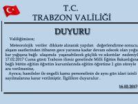 Trabzon Valiliği Açıklama Yaptı