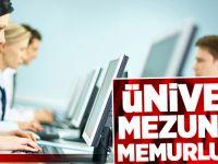Üniversite Mezunlarına Memurluk Fırsatı