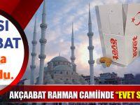 "Akçaabat Rahman Caminde Dağıtılan  ""EVET""li Kandil Simitlerine Tepki Var"