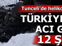 Tunceli'nin Pülümür İlçesinde Düşen Polis Helikopterinden Acı Haber...