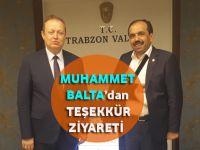 AK Parti Trabzon Milletvekili Muhammet Balta'dan Teşekkür!