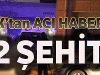 Şırnak'tan Acı Haber Var:2 Şehit
