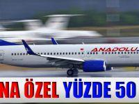 Anadolujet'ten Ramazana Özel Yüzde 50 İndirim