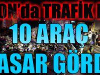Trabzon'da Trafik Kazası:Tam 10 Araç Hasar Gördü