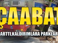 Akçaabat'ta Sürücüler Abarttı, Kaldırımlara Parklar Devam Ediyor