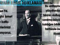 Trabzon Barosu'ndan Lozan Antlaşmasının 94. Yılı Basın Açıklaması