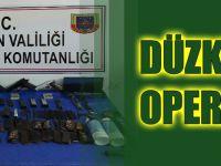 Düzköy'de Çok Sayıda Silah Ele Geçirildi