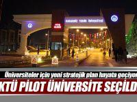 KTÜ Pilot Üniversite Seçildi